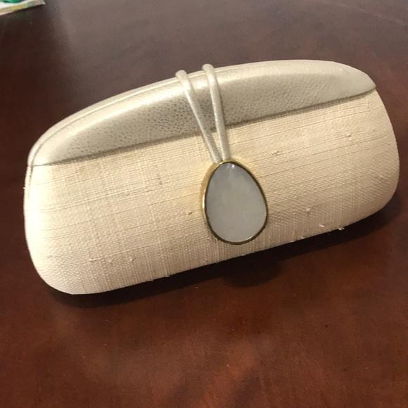 Handbags - Flora Bella Raffia Metallic Clutch